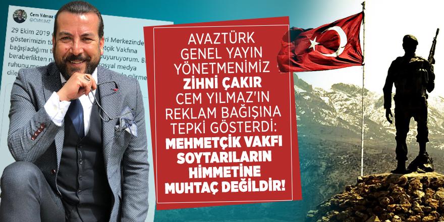 Zihni Çakır Cem Yılmaz'ın reklam bağışına tepki gösterdi: Mehmetçik Vakfı soytarıların himmetine muhtaç değildir!
