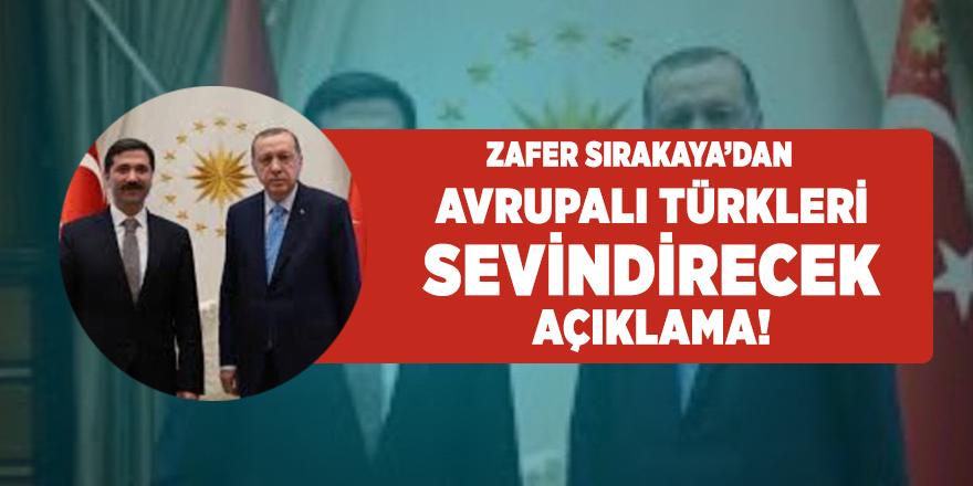 Avrupa Konseyi Parlamenter Meclis Üyesi,  AK Parti Milletvekili Zafer Sırakaya'dan Avrupalı Türkleri sevindirecek açıklama: Yurtdışı Türkler ve Akraba Topluluklar Komisyonu Kurulacak