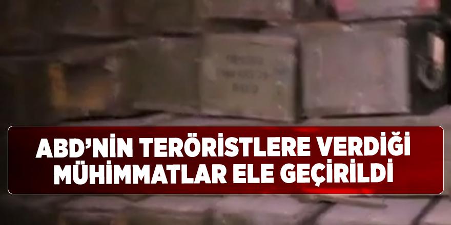 ABD'nin terör örgütüne verdiği silah ve mühimmatlar ele geçirildi