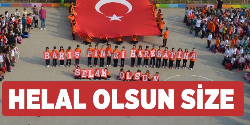 Bursalı ilkokul öğrencilerinden Barış Pınarı Harekatı'na alkışlanacak destek!