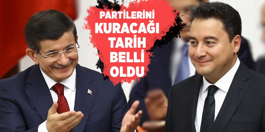 Davutoğlu ve Babacan'ın partilerini kuracağı tarih belli oldu