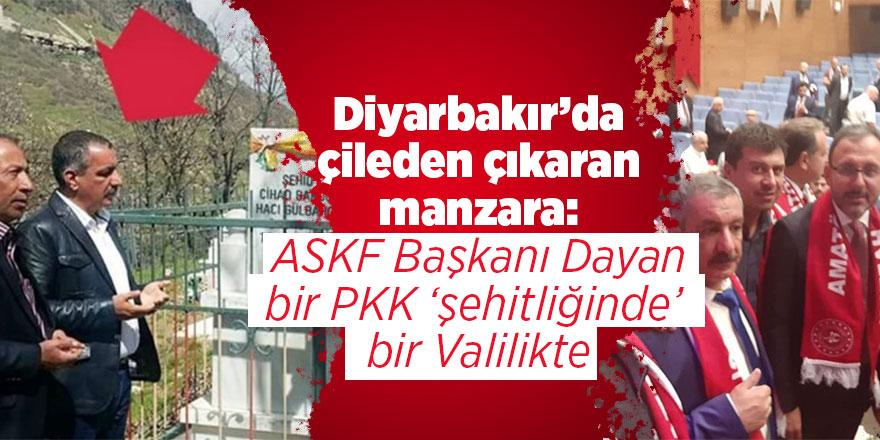 Diyarbakır'da çileden çıkaran manzara: ASKF Başkanı Dayan bir PKK 'şehitliğinde' bir Valilikte
