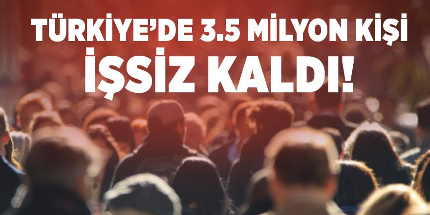 Türkiye'de 3.5 milyon kişi işsiz kaldı!
