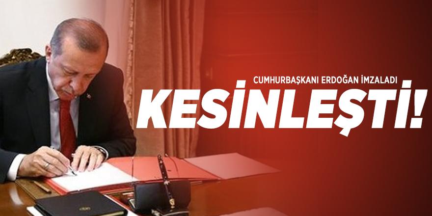 Cumhurbaşkanı Erdoğan İmzaladı: O alanın korunması kesinleşti!