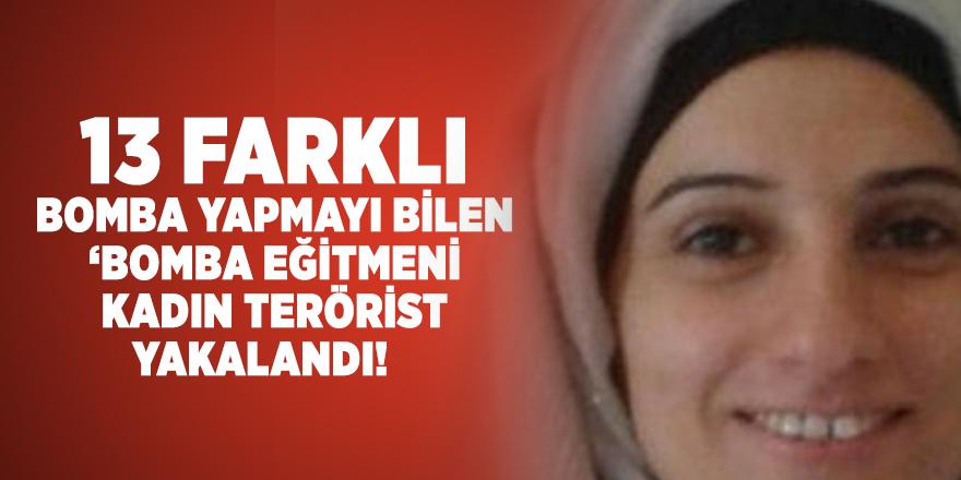 13 farklı bomba yapmayı bilen kadın terörist bombalı saldırı yapamadan yakalandı!