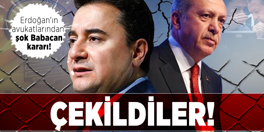 Cumhurbaşkanı Erdoğan'ın avukatlarından şok Babacan kararı! Çekildiler!