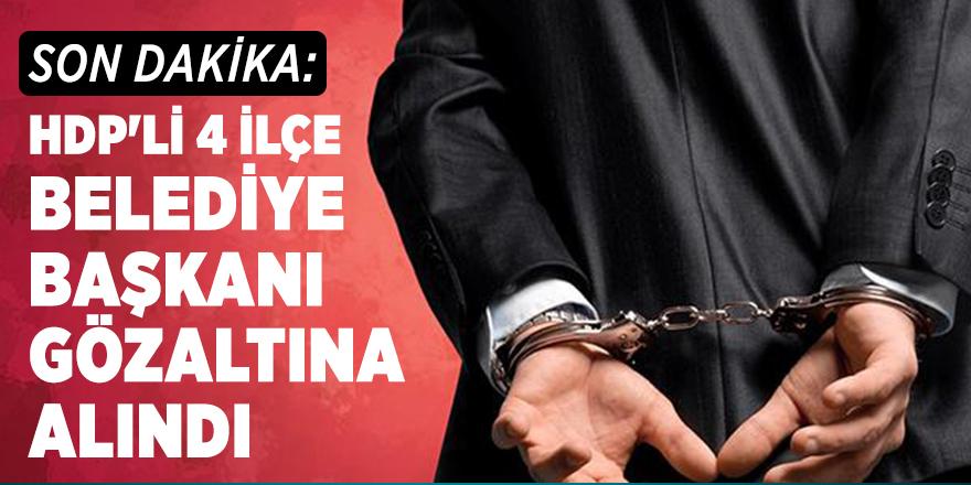 Son dakika: HDP'li 4 ilçe belediye başkanı gözaltına alındı