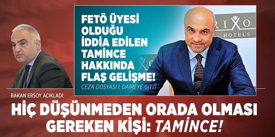 TBMM Genel Kurulunda Bakan Ersoy'dan flaş Tamince açıklaması!