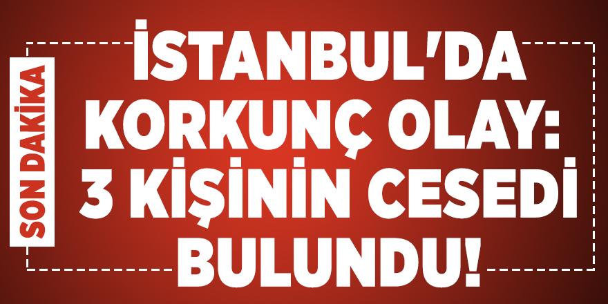 İstanbul'da korkunç olay: 3 kişinin cesedi bulundu!