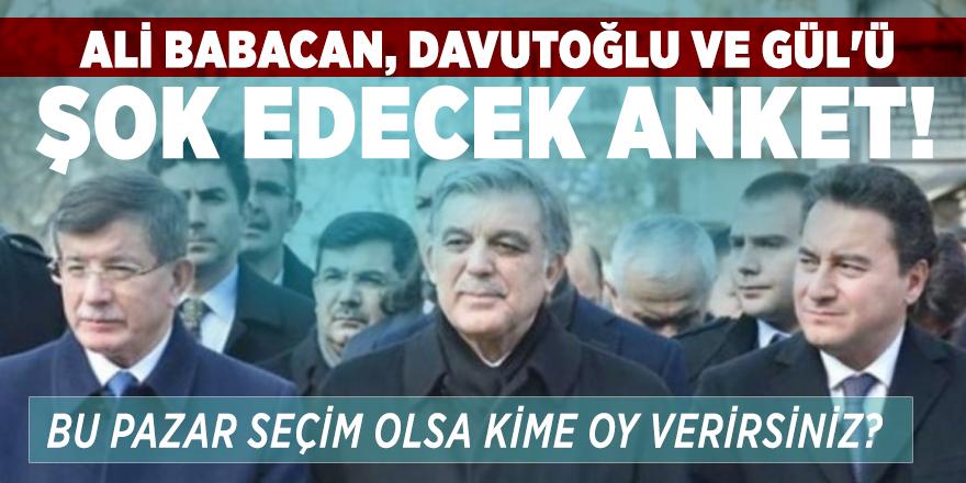 Ali Babacan ve Davutoğlu'nu şok edecek anket! Bu Pazar seçim olsa kime oy verirsiniz?