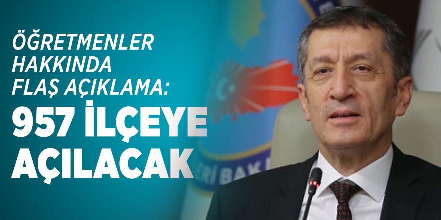 Milli Eğitim Bakanı Ziya Selçuk'tan öğretmenler hakkında flaş açıklama!