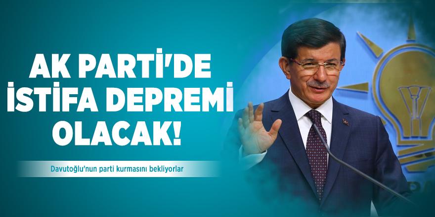 AK Parti'de istifa depremi olacak! Davutoğlu'nun parti kurmasını bekliyorlar