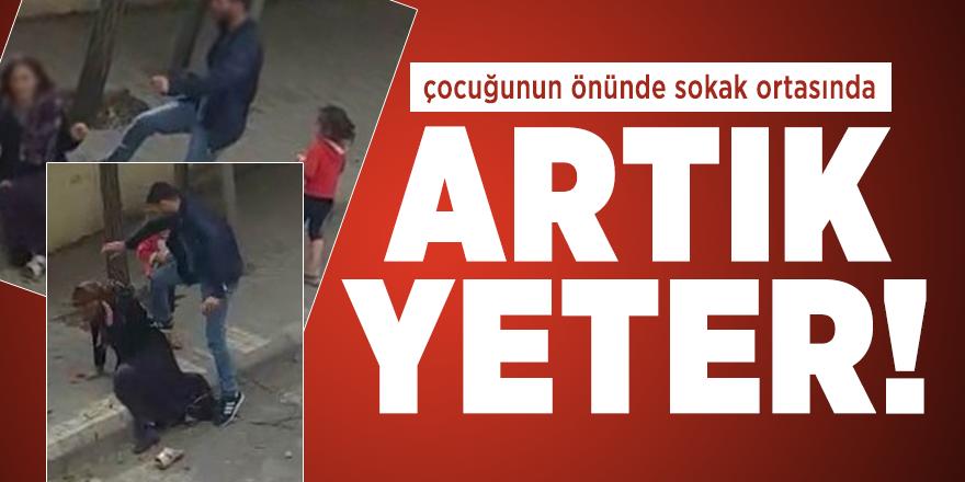 Gaziantep'te kadına  sokak ortasında şiddet !