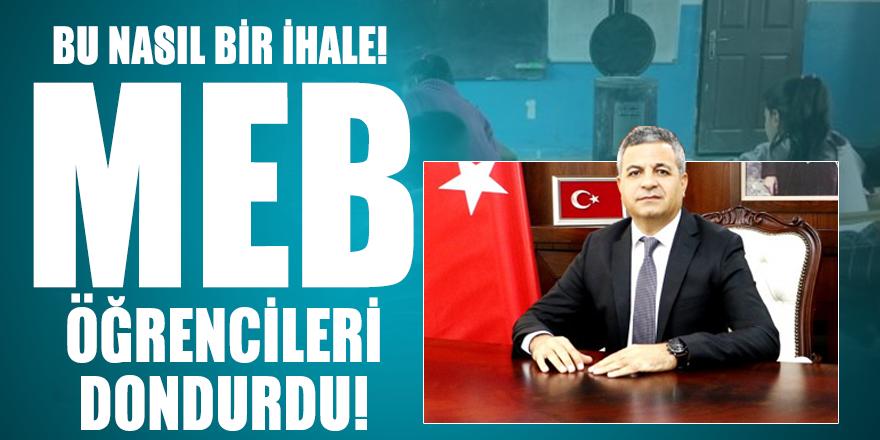 Bu nasıl bir ihale! Diyarbakır Milli Eğitim Müdürlüğü öğrencileri dondurdu!