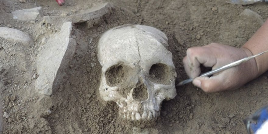 Çorum'da 3 bin 500 yıllık kafa tası bulundu