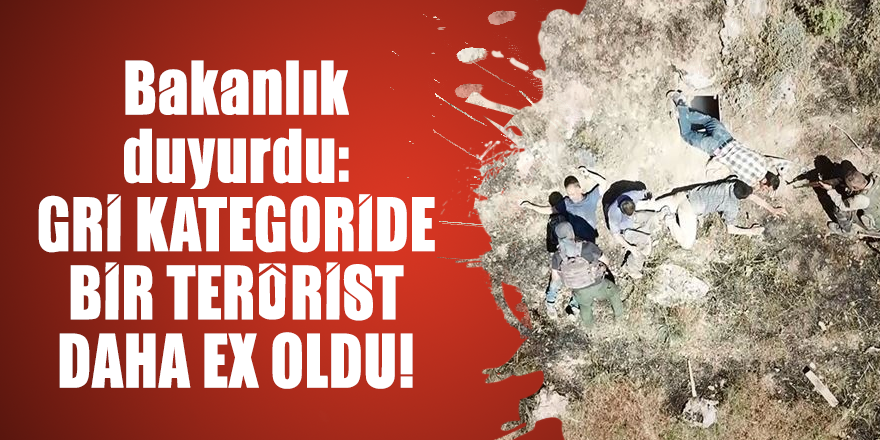 Bakanlık duyurdu: Gri kategoride bir terörist daha ex oldu!