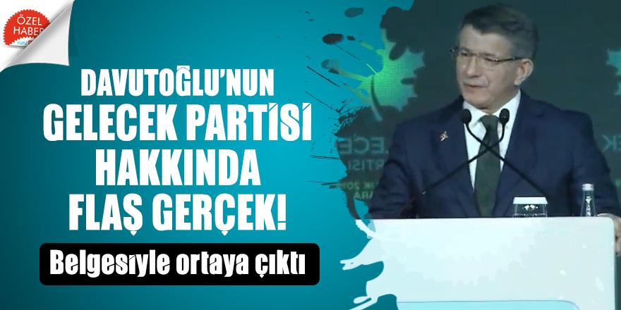 Davutoğlu'nun Gelecek Partisi hakkında şok gerçek ortaya çıktı!