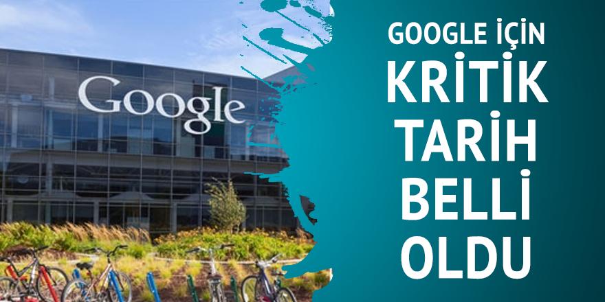 Google için kritik tarih belli oldu
