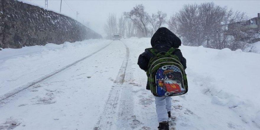 Muş ve Konya'da eğitime kar engeli