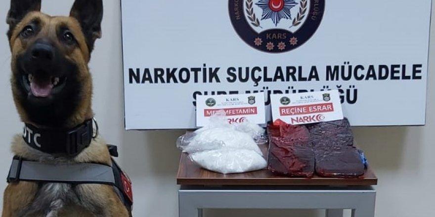 Kars polisi ODİN'in de yardımıyla zehir tacirlerini kıskıvrak yakaladı