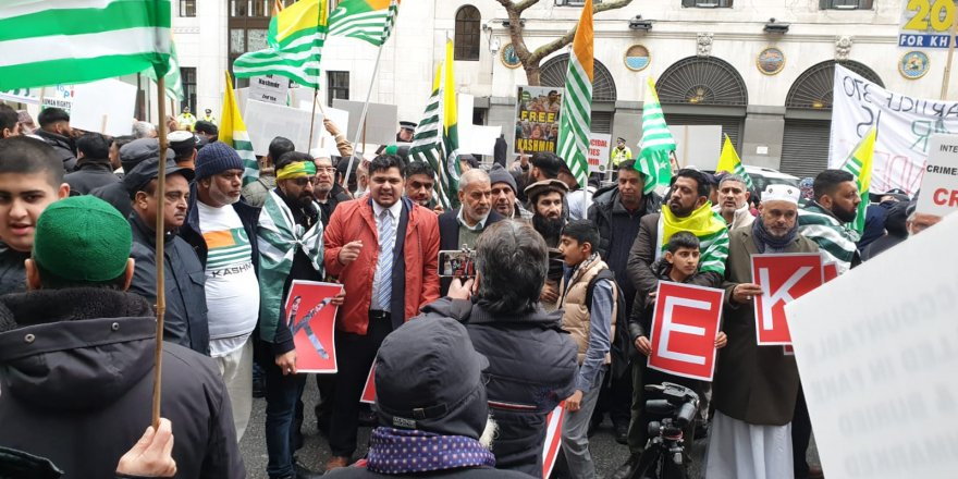 A POWERFUL PROTEST IN LONDON: 'FREEDOM FOR IOJ KASHMIR!'