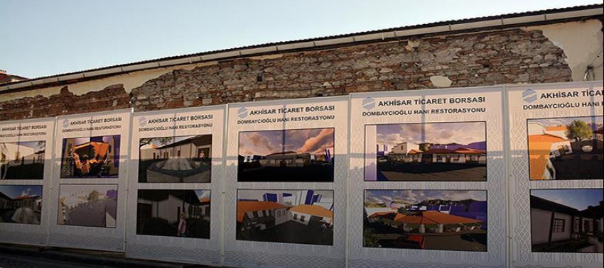 Manisa'da 300 yıllık hanın restorasyonuna başlandı