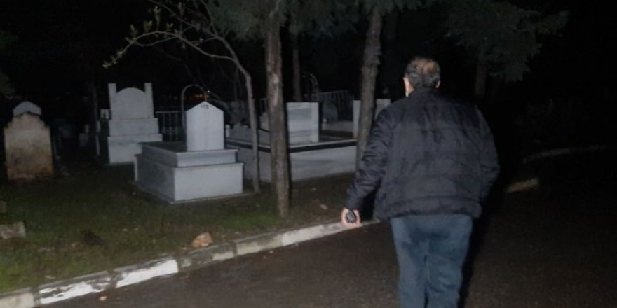 Polis alarma geçti! Mezarlıktan gelen gizemli ses paniğe neden oldu