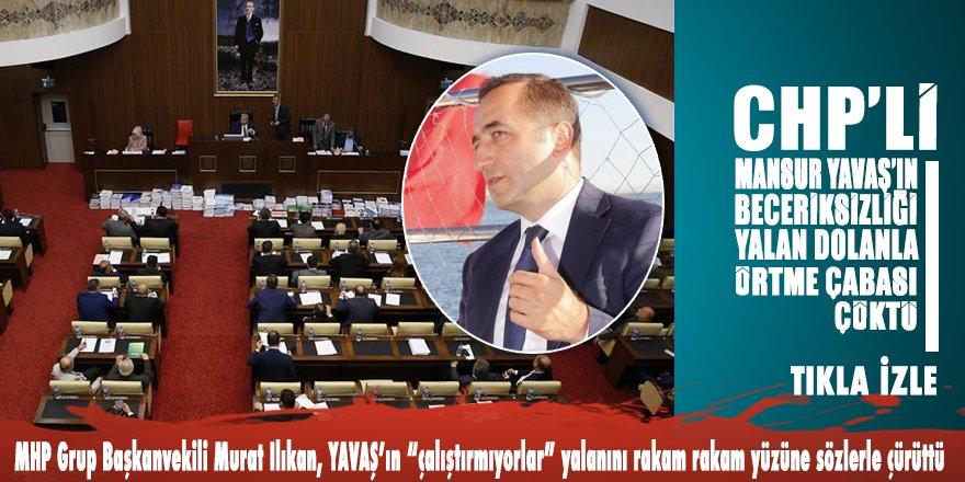 MHP'li Murat Ilıkan, Mansur Yavaş'ın yalanlarını yüzüne yüzüne söylediği sözlerle çürüttü