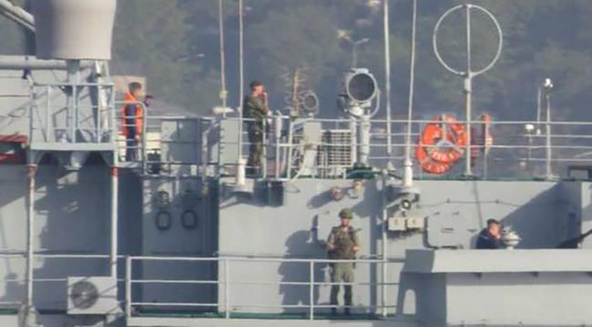 Rus gemisi yine Boğaz'dan geçti!