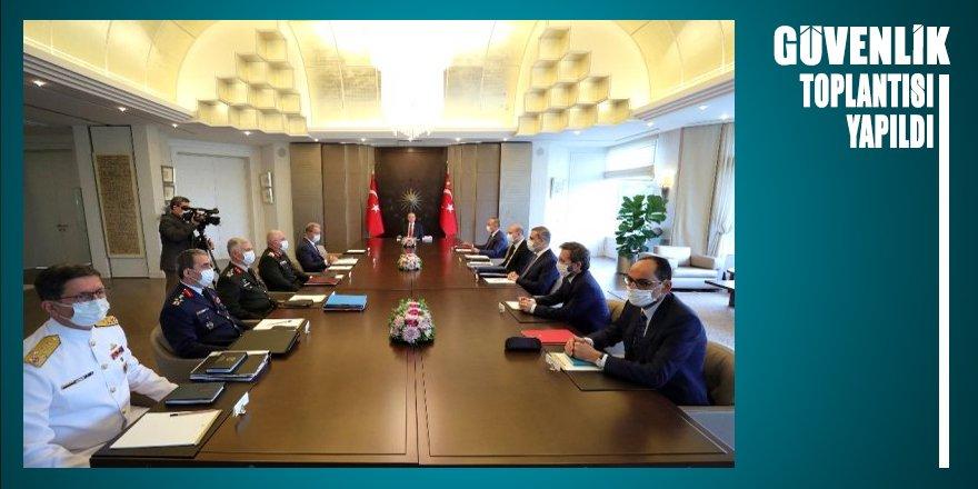 Güvenlik Toplantısı Cumhurbaşkanı Erdoğan başkanlığında gerçekleştirildi