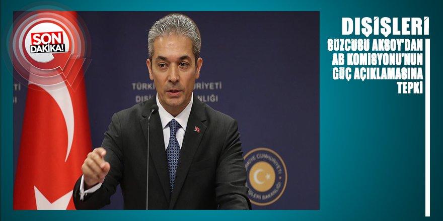 Türkiye AB Komisyonu Başkan Yardımcısı Schinas'ın 'göç' açıklamasına tepki gösterdi