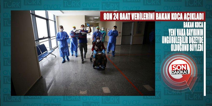 Sağlık Bakanı Koca'nın açıklamalarına göre yeni vaka sayısı öngörülebilir seviyede