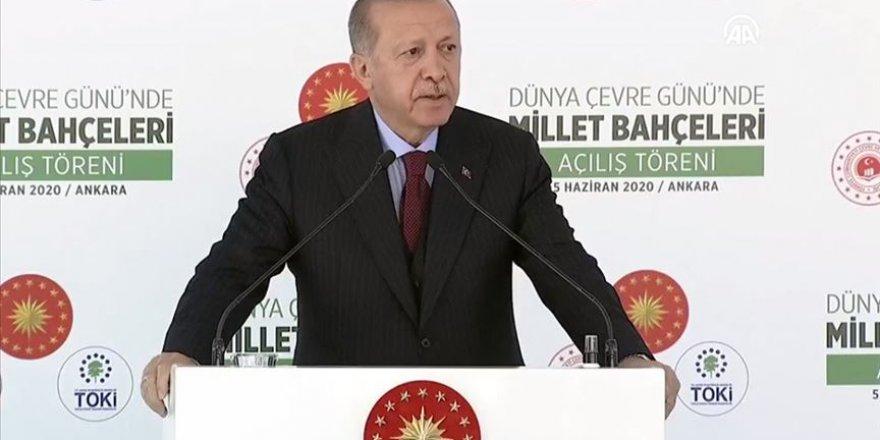 Cumhurbaşkanı Erdoğan Millet Bahçeleri Toplu Açılış Töreninde konuştu
