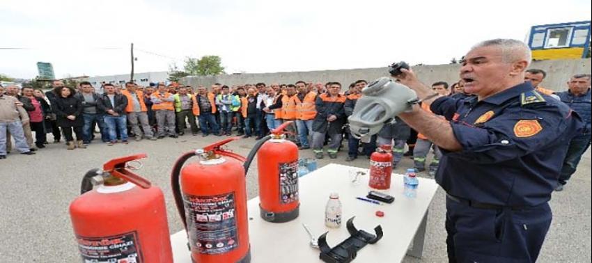Büyükşehir Personeline Yangın Tatbikatı