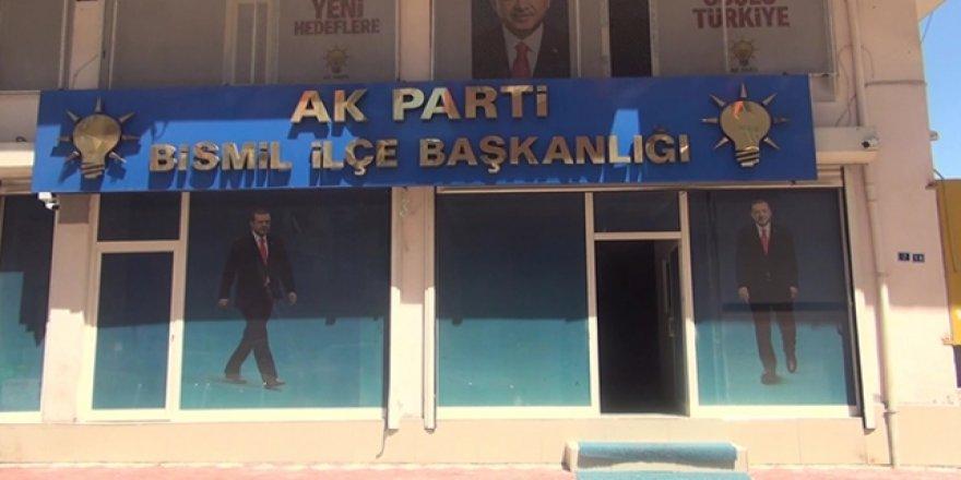 Diyarbakır'da AK Parti İlçe Başkanlığı binasına molotofkokteylli saldırı