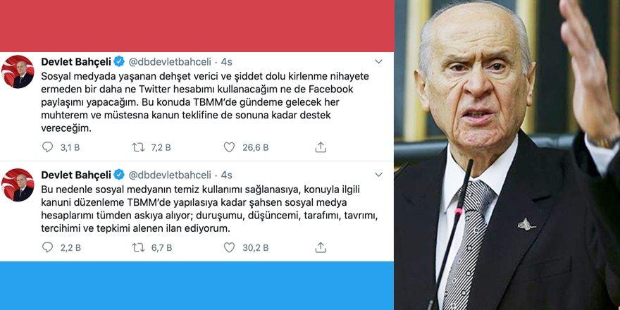 MHP Lideri Devlet Bahçeli Sosyal Medya'dan çekildiğini açıkladı