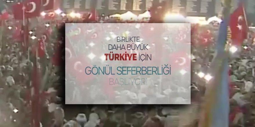 AK Parti, Sosyal Medyadan Yaptığı Videolu Paylaşımla #GönülSeferberliği Başlattı