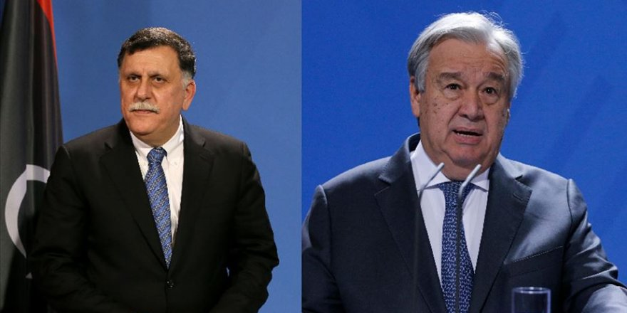 BM Genel Sekreteri Guterres ile Libya Başbakanı Serrac arasında telefon diplomasisi