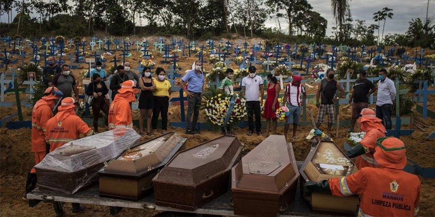 Kovid-19'dan Son 24 Saatte Brezilya'da 602, Hindistan'da 425 Kişi Öldü