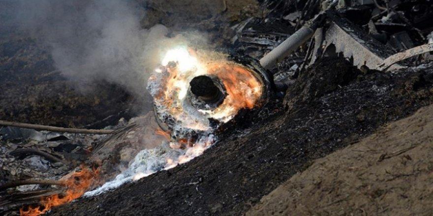 Afganistan'da savaş uçağı düştü