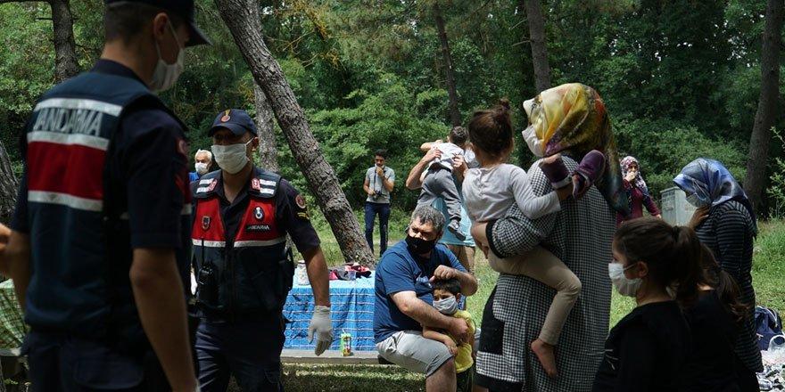 İstanbul'da Jandarma ekipleri piknik alanlarında denetim yaptılar!