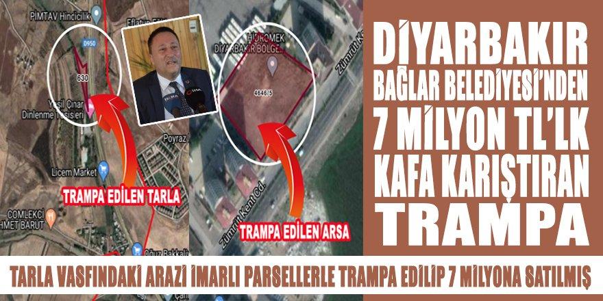 Diyarbakır Bağlar Belediyesi'nden 7 milyonluk kafa karıştıran TRAMPA