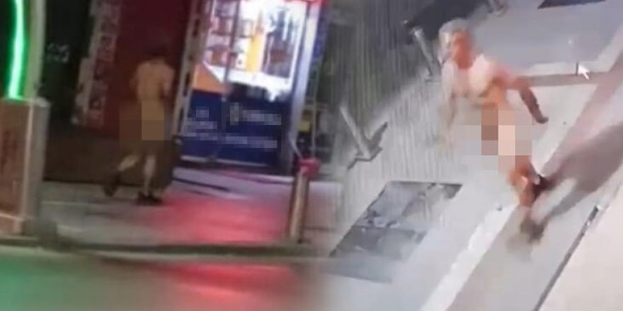 Kocaeli'nde şoke eden olay! 1 kişi çırılçıplak caddede görüldü