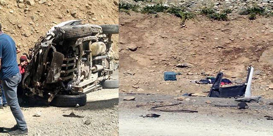 Yüksekova'da piknik yolunda kaza: Ölü ve yaralılar var