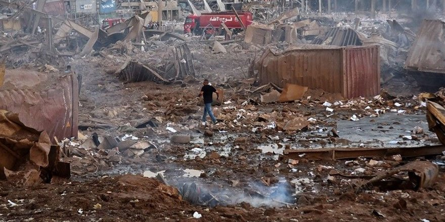 Patlamadan geriye bir şehrin enkazı kaldı! İşte kare kare Beyrut