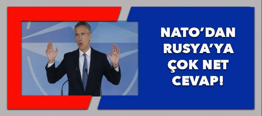 NATO'dan Rusya'ya çok net mesaj!