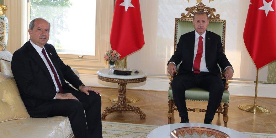 Cumhurbaşkanı Erdoğan KKTC Başbakanı Ersin Tatar'ı kabul etti!