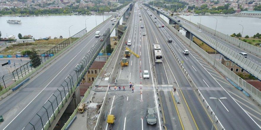 Haliç Köprüsü'nde 7 gün sürecek çalışmalar başladı