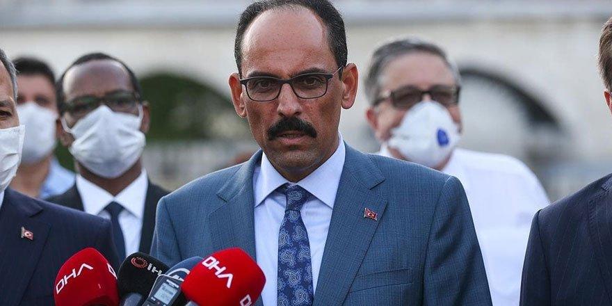 Cumhurbaşkanlığı Sözcüsü Kalın: Yunanistan ile Mısır'ın anlaşması yok hükmündedir