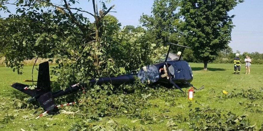 Çekya'da sivil helikopter düştü!
